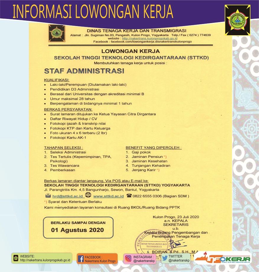 Lowongan Kerja Yayasan Kanisius Yogyakarta