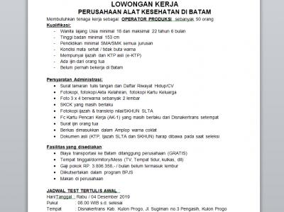 Dinas Tenaga Kerja Dan Transmigrasi Kabupaten Kulon Progo