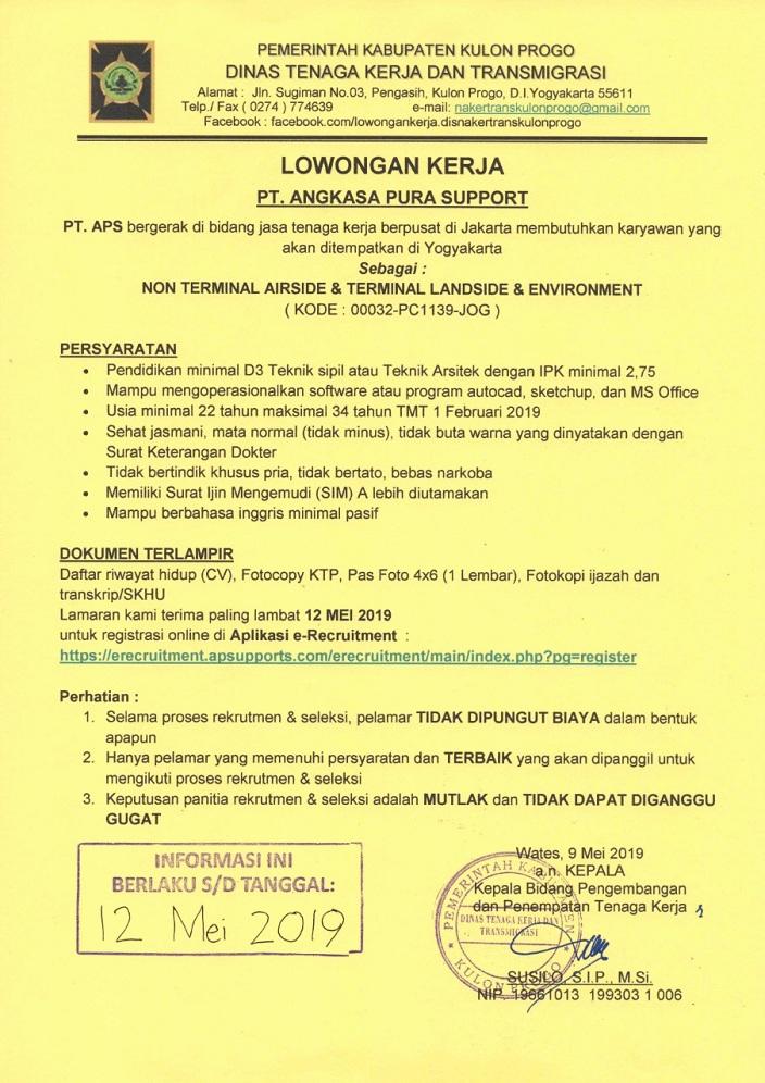 Lowongan Os Di Pt Aps Utk Yogyakarta
